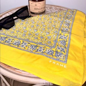 FRAME Paisley Large Bandana in Lemon, exclusive
